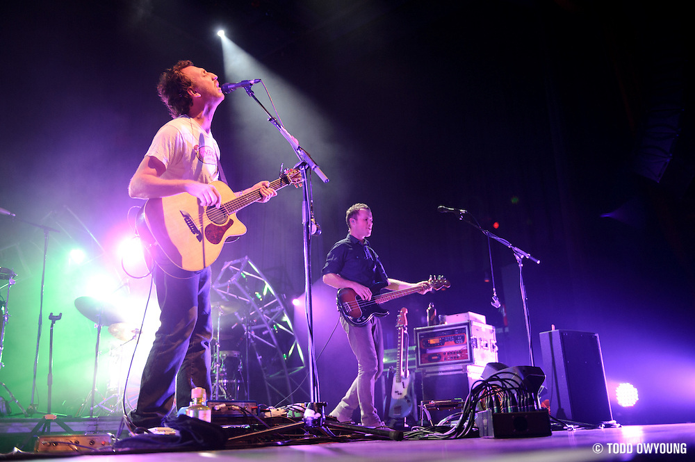 Photos of indie rock band Guster performing at the Pageant in St. Louis on October 9, 2010