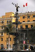 Fountain - Plaza de Armas  Lima, Peru
