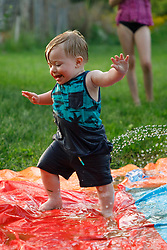 Gemma's @ 9 months Winston @ 14 months Addy, Carlee, Kevin in the Slip N Slide, and celebration for mothers, Saturday, May 12, 2018  at Geerts Grotto in Louisville.