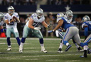 Dallas Cowboys rookie guard Zack Martin (70) blocks during the NFL week 18 NFC Wild Card postseason football game against the Detroit Lions on Sunday, Jan. 4, 2015 in Arlington, Texas. The Cowboys won the game 24-20. ©Paul Anthony Spinelli