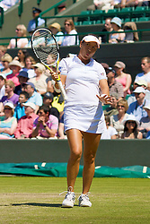 LONDON, ENGLAND - Tuesday, July 1, 2008: Tamarine Tanasugarn (THA) during her Ladies' Singles Quarter-Final on day eight of the Wimbledon Lawn Tennis Championships at the All England Lawn Tennis and Croquet Club. (Photo by David Rawcliffe/Propaganda)