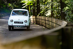 Boness Revival hillclimb motorsport event in Boness, Scotland, UK. The 2019 Bo'ness Revival Classic and Hillclimb, Scotland's first purpose-built motorsport venue, it marked 60 years since double Formula 1 World Champion Jim Clark competed here.  It took place Saturday 31 August and Sunday 1 September 2019. Goggomobil