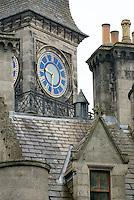 Clock tower of Dunrobin Castle Scotland