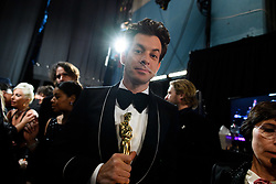 After winning the Oscar® for music written for motion pictures (original song), Mark Ronson pose backstage during the live ABC Telecast of The 91st Oscars® at the Dolby® Theatre in Hollywood, CA on Sunday, February 24, 2019.