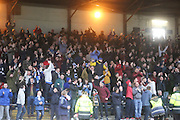 Dens Park's South Enclosure is bouncing after Martin Boyle gives Dundee the lead - Dundee v Hamilton, SPFL Championship at <br />