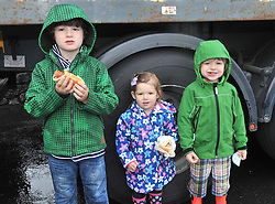 Senan Alice and Diarmuid Crean from Knockmore enjoying the hot dogs at the Murrisk pattern day on sunday last.<br /> Pic Conor McKeown