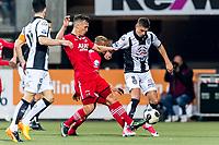 ALMELO - 14-04-2017, Heracles  Almelo - AZ, AFAS Stadion, AZ speler Stijn Wuytens, Heracles Almelo speler Kristoffer Peterson