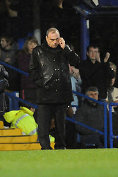 Portsmouth Manager Avram Grant looks dejected as his side go down 1-4. Portsmouth v Manchester United (1-4), Barclays Premier League Fratton Park, Portsmouth, 28th November 2009.