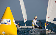 The Laser World Championships 2013 -  Standard. Mussanah Oman<br /> The final day of racing, Robert Scheidt (BRA) shown here in action and celebrating after winning the championships<br /> Credit: Lloyd Images.