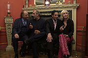 Ed Victor, Alan Yentob, Charles Saatchi and Sally Greene. Tina Brown CBE and Birthday party hosted by Sally Greene. Cheyne Walk. London 21 November 2000. © Copyright Photograph by Dafydd Jones 66 Stockwell Park Rd. London SW9 0DA Tel 020 7733 0108 www.dafjones.com