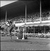 06/08/1960<br /> 08/06/1960<br /> 06 August 1960<br /> R.D.S Horse Show Dublin (Saturday). Captain the Hon, John Brooke on &quot;Tyrenny&quot;.