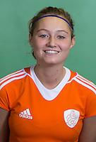 DELFT - Marijn Veen. Nederlands zaalhockeyteam dames voor EK in Minsk. COPYRIGHT KOEN SUYK