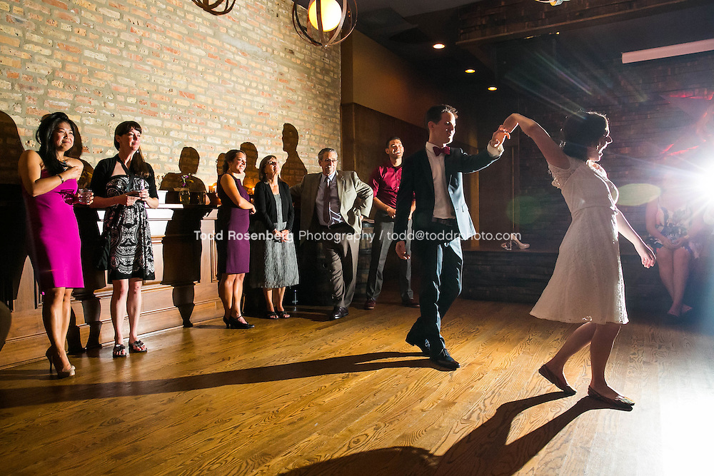 9/3/16 9:23:25 PM --  The wedding of Caroline Slack and Miles Maner at Revolution Brewing Co in Chicago, IL  © Todd Rosenberg Photography 2016