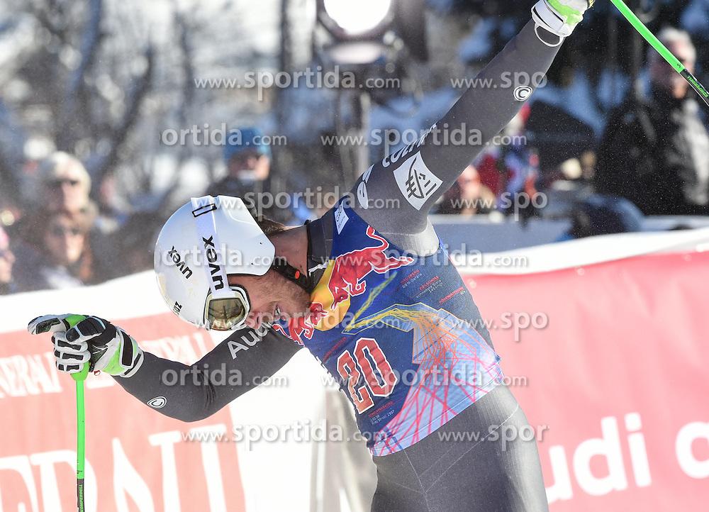 21.01.2017, Hahnenkamm, Kitzbühel, AUT, FIS Weltcup Ski Alpin, Kitzbuehel, Abfahrt, Herren, im Bild Johan Clarey (FRA, 3. Platz) // 3rd placed Johan Clarey of France celebrates after his run of men's downhill of FIS Ski Alpine World Cup at the Hahnenkamm in Kitzbühel, Austria on 2017/01/21. EXPA Pictures © 2017, PhotoCredit: EXPA/ Erich Spiess