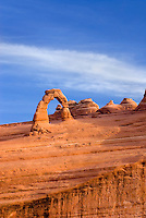 Delicate Arch seen from lower viewpoint, Arches National Park Utah USA