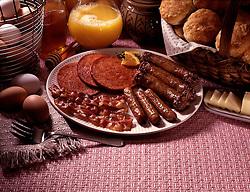 FOOD Orange juise muffins brown eggs honey basket butter slices