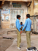 Boys in school uniforms, Amber, Rajasthan