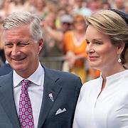 NLD/Terneuzen/20190831 - Start viering 75 jaar vrijheid, Koning Filip en partner Mathilde d'Udekem d'Acoz