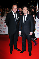 Anthony McPartlin and Declan Donnelly at the National Television Awards held in London on Wednesday, 25th January 2012. Photo by: i-Images