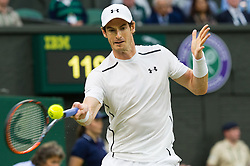 LONDON, ENGLAND - Saturday, July 2, 2016:  Andy Murray (GBR) during the Gentlemen's Single 3rd Round match on day six of the Wimbledon Lawn Tennis Championships at the All England Lawn Tennis and Croquet Club. (Pic by Kirsten Holst/Propaganda)