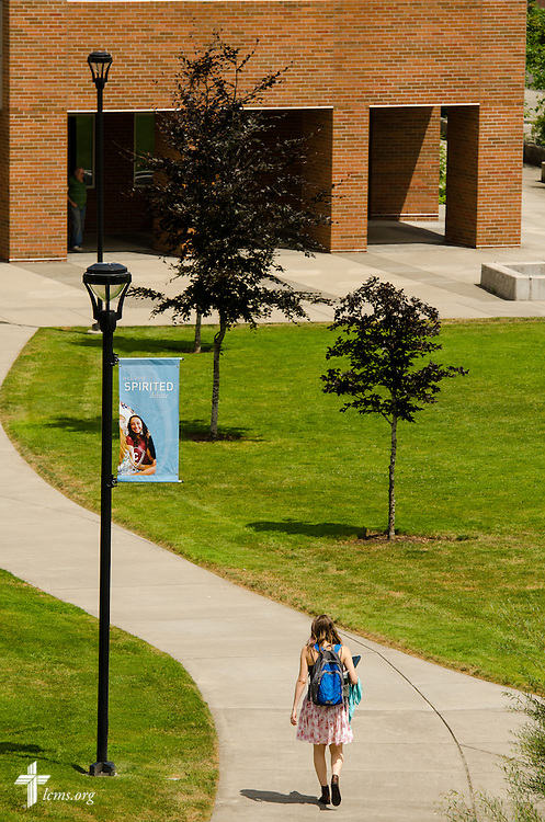 Students walk to class on the campus of Concordia University on Friday, July 11, 2014,  in Portland, Ore. LCMS Communications/Erik M. Lunsford