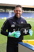 AFC Wimbledon goalkeeping coach Ashley Bayes during the EFL Sky Bet League 1 match between AFC Wimbledon and Luton Town at the Cherry Red Records Stadium, Kingston, England on 27 October 2018.