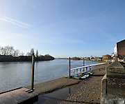 """London. ENGLAND. Saturday 26/01/2013 2013 Quintin Head, River Thames. ..Description - 'Sons of the Thames BC' crew, returning to the club after a morning training session,..[Mandatory Credit: Peter Spurrier/Intersport Images]..[Head Race: Processional"""" Time Trial].."""