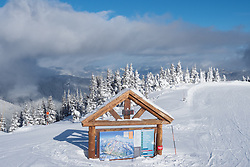 North America, United States, Washington,  Crystal Mountain Ski Resort