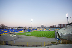 SOFIA, BULGARIA - Wednesday, November 26, 2014: A general view of the Georgi Asparuhov Stadium as PFC Ludogorets Razgrad take on Liverpool the UEFA Youth League Group B match at the Georgi Asparuhov Stadium. (Pic by David Rawcliffe/Propaganda)