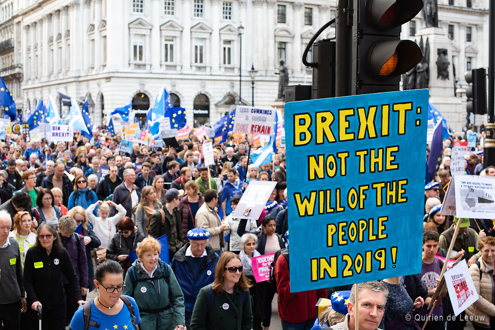 People's Vote March 19th october.  Over an million people gathered together in the streets of London to march to parliament and protest against Brexit.