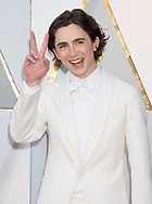 04.03.2018; Hollywood, USA: <br /> Timoth&eacute;e Chalamet<br /> attends the 90th Annual Academy Awards at the Dolby&reg; Theatre in Hollywood.<br /> Mandatory Photo Credit: &copy;AMPAS/Newspix International<br /> <br /> IMMEDIATE CONFIRMATION OF USAGE REQUIRED:<br /> Newspix International, 31 Chinnery Hill, Bishop's Stortford, ENGLAND CM23 3PS<br /> Tel:+441279 324672  ; Fax: +441279656877<br /> Mobile:  07775681153<br /> e-mail: info@newspixinternational.co.uk<br /> Usage Implies Acceptance of Our Terms &amp; Conditions<br /> Please refer to usage terms. All Fees Payable To Newspix International