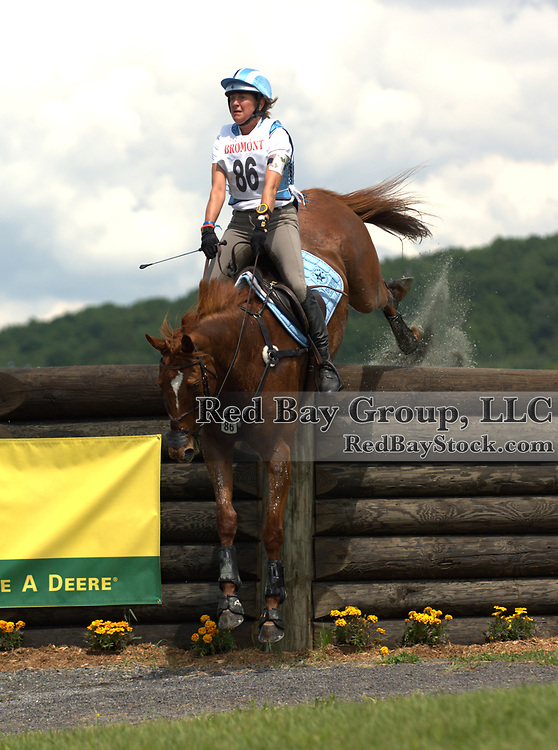 Corinne Ashton (USA) and Dobbin at the 2009 Bromont Three Day Event held in Bromont, Quebec, Canada.