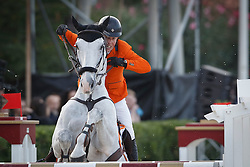 Schroder Gerco, (NED), Glocks Cognac Champblanc <br /> First Round<br /> Furusiyya FEI Nations Cup Jumping Final - Barcelona 2015<br /> © Dirk Caremans<br /> 24/09/15