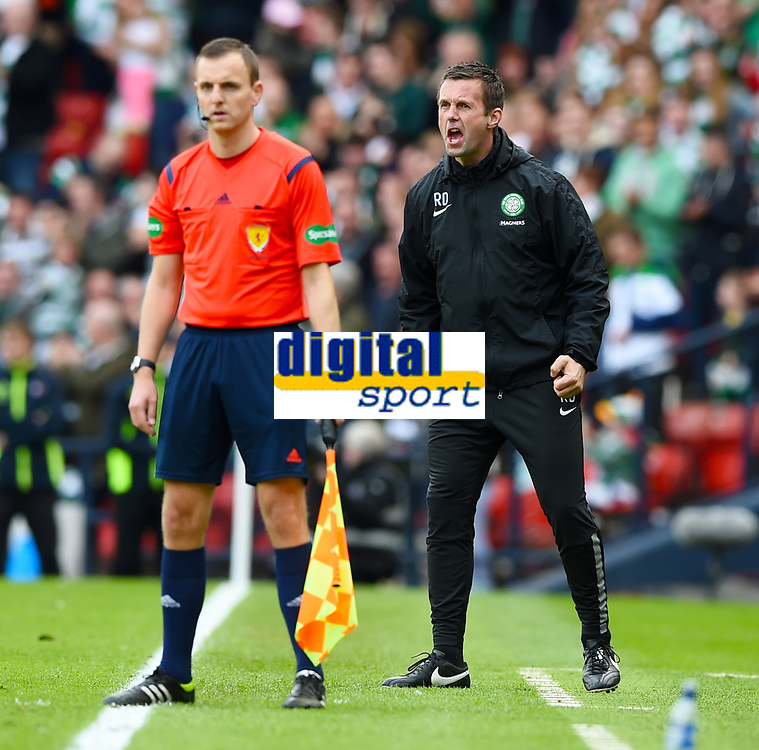 19/04/15 WILLIAM HILL SCOTTISH CUP SEMI-FINAL<br /> INVERNESS CT v CELTIC<br /> HAMPDEN - GLASGOW<br /> Celtic manager Ronny Deila