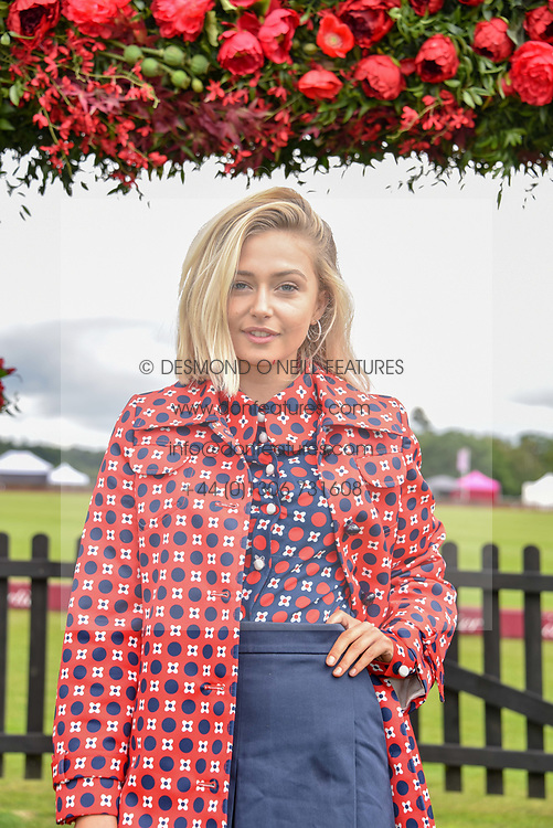 Sophie Simnett at the Cartier Queen's Cup Polo 2019 held at Guards Polo Club, Windsor, Berkshire. UK 16 June 2019 - <br /> <br /> Photo by Dominic O'Neill/Desmond O'Neill Features Ltd.  +44(0)7092 235465  www.donfeatures.com
