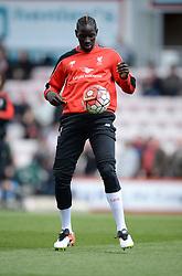 Mamadou Sakho of Liverpool warms up. - Mandatory by-line: Alex James/JMP - 17/04/2016 - FOOTBALL - Vitality Stadium - Bournemouth, England - AFC Bournemouth v Liverpool - Barclays Premier League