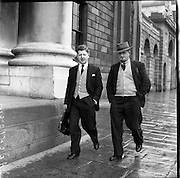 12/05/1958<br /> 05/12/1958<br /> 12 May 1958<br /> <br /> Charles Lenihan (Kerry County Council) arrives at High Court (for Kerryman)