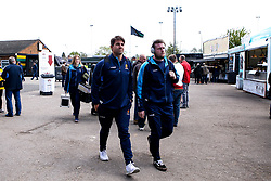 Wynand Olivier and Niall Annett of Worcester Warriors arrive at Northampton Saints - Mandatory by-line: Robbie Stephenson/JMP - 04/05/2019 - RUGBY - Franklin's Gardens - Northampton, England - Northampton Saints v Worcester Warriors - Gallagher Premiership Rugby