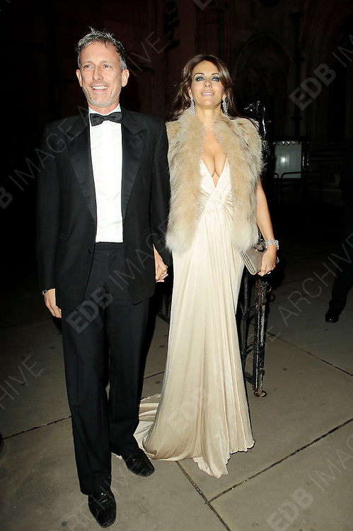 05.SEPTEMBER.2010. LONDON<br /> <br /> LIZ HURLEY AND PATRICK COX ATTEND A PARTY TO CELEBRATE THE RECIVING OF BRITISH CITIZENSHIP FOR RUSSIAN NEWS PAPER MOGUL ALEXANDER LEBEDEV AT THE ROYAL COURTS OF JUSTICE IN THE STRAND.<br /> <br /> BYLINE: EDBIMAGEARCHIVE.COM<br /> <br /> *THIS IMAGE IS STRICTLY FOR UK NEWSPAPERS AND MAGAZINES ONLY*<br /> *FOR WORLD WIDE SALES AND WEB USE PLEASE CONTACT EDBIMAGEARCHIVE - 0208 954 5968*
