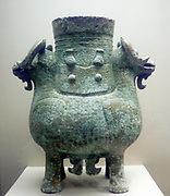 Bronze ritual vessel. Shang period, China, 12th century.