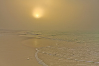 A foggy morning on the beach in Destin, Florida.