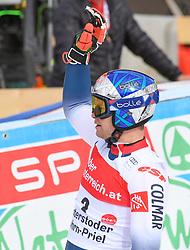 26.10.2019, Hannes Trinkl Weltcupstrecke, Hinterstoder, AUT, FIS Weltcup Ski Alpin, Riesenslalom, Herren, 2. Lauf, im Bild AlEXis Pinturault (FRA) SIEGER // Alexis Pinturault of France WINNER reacts after his 2nd run of men's Giant Slalom of FIS ski alpine world cup at the Hannes Trinkl Weltcupstrecke in Hinterstoder, Austria on 2019/10/26. EXPA Pictures © 2020, PhotoCredit: EXPA/ Erich Spiess