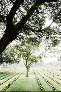Kanchanaburi War Cemetary maintained by Commonwealth War Graves Commission. Kanchanaburi Thailand, Eastern & Oriental Train
