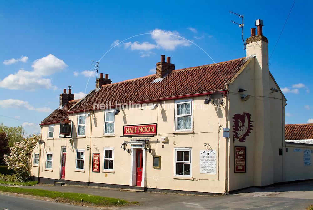 Half Moon pub Skidby village