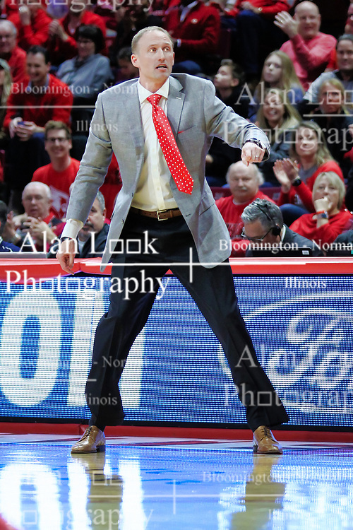 NORMAL, IL - February 02: Dan Muller during a college basketball game between the ISU Redbirds and the University of Loyola Chicago Ramblers on February 02 2019 at Redbird Arena in Normal, IL. (Photo by Alan Look)