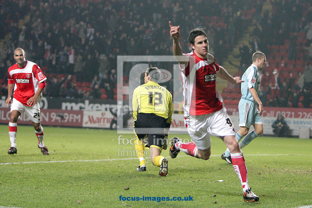 London - Monday December 15th, 2008: Andy Gray of Charlton Athletic celebrates his goal during the Coca Cola Championship match at The Valley, London. (Pic by Mark Chapman/Focus Images)