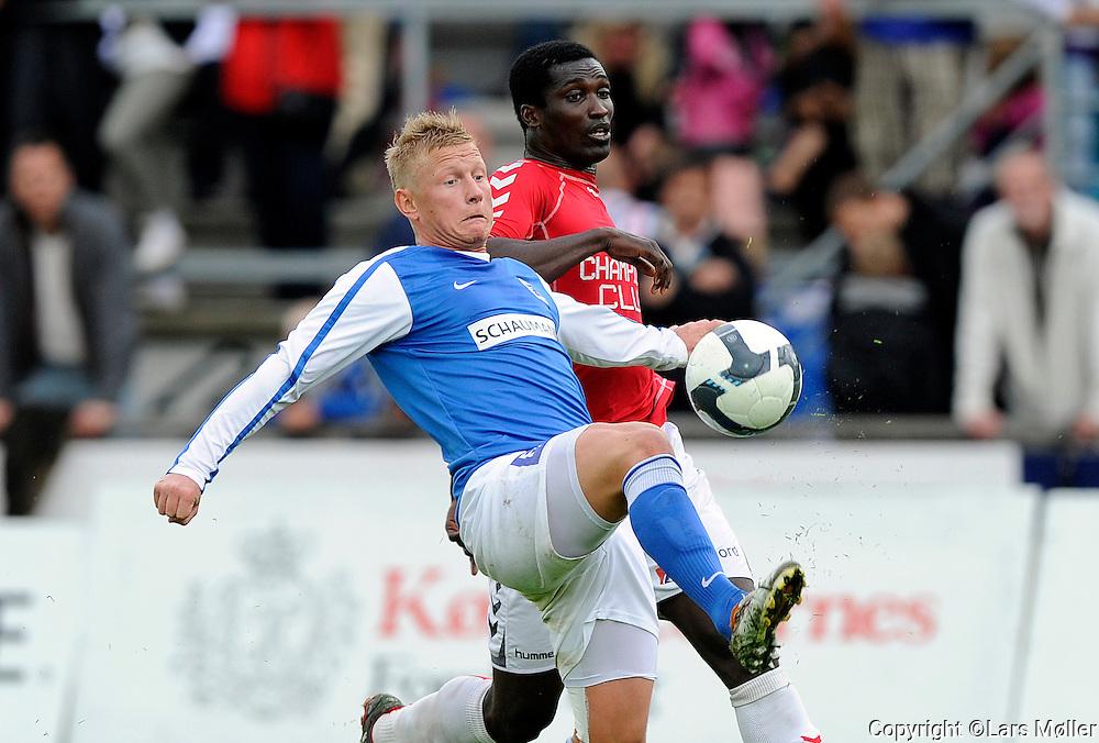 DK:<br /> 20100620, Lyngby, Danmark:<br /> Fodbold Viasat division, Lyngby-Vejle:<br /> Lasse Rise, Lyngby Boldklub., Godwin Antwi, Vejle<br /> Foto: Lars M&oslash;ller<br /> UK: <br /> 20100620, Lyngby, Danmark:<br /> Fodbold Viasat division, Lyngby-Vejle:<br /> Lasse Rise, Lyngby Boldklub., Godwin Antwi, Vejle<br /> Photo: Lars Moeller