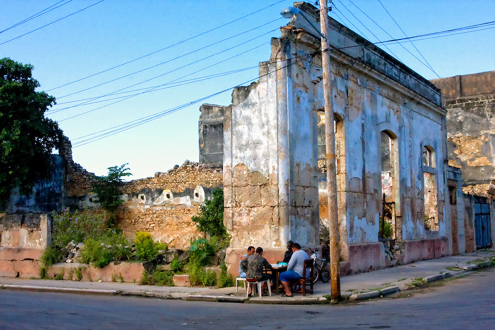 Street corner dominoes in Cardenas, Matanzas, Cuba.