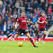 7th April 2018, Ibrox Stadium, Glasgow, Scotland; Scottish Premier League football, Rangers versus Dundee; Lewis Spence of Dundee