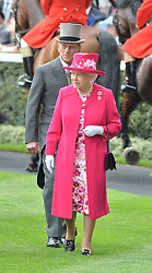HM The QUEEN and the DUKE OF EDINBURGH at the 1st day of the Royal Ascot Racing Festival 2015 at Ascot Racecourse, Ascot, Berkshire on 16th June 2015.